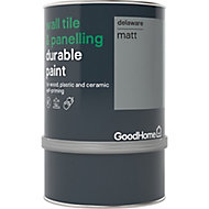 GoodHome Durable Delaware Matt Wall tile & panelling paint, 750ml