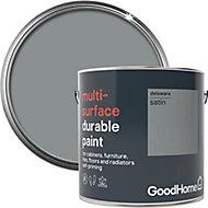 GoodHome Durable Delaware Satin Multi-surface paint, 2L