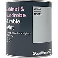 GoodHome Durable Denali Matt Cabinet & wardrobe paint, 750ml
