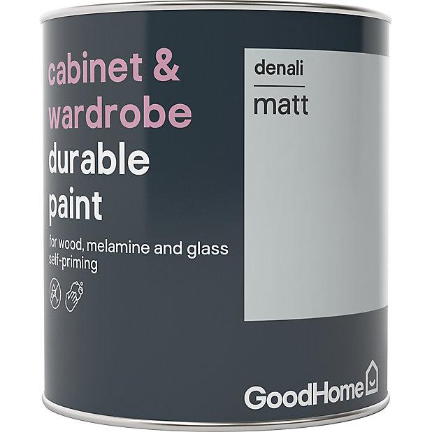 Goodhome Durable Denali Matt Cabinet, Kitchen Cabinet Paint Colors B And Q