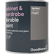 GoodHome Durable Fairfield Matt Cabinet & wardrobe paint, 750ml