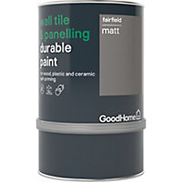 GoodHome Durable Fairfield Matt Wall tile & panelling paint, 750ml