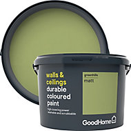 GoodHome Durable Greenhills Matt Emulsion paint, 2.5L