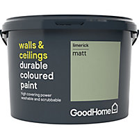 GoodHome Durable Limerick Matt Emulsion paint, 2.5L