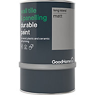 GoodHome Durable Long island Matt Wall tile & panelling paint, 750ml