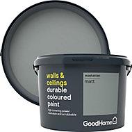 GoodHome Durable Manhattan Matt Emulsion paint, 2.5L