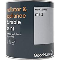 GoodHome Durable New haven Matt Radiator & appliance paint, 750ml