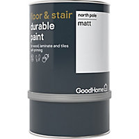GoodHome Durable North pole (Brilliant white) Matt Floor & stair paint, 750ml