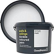GoodHome Durable North pole Matt Emulsion paint, 2.5L