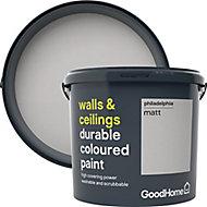 GoodHome Durable Philadelphia Matt Emulsion paint, 5L