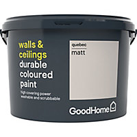 GoodHome Durable Quebec Matt Emulsion paint 2.5L