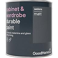GoodHome Durable Sedona Matt Cabinet & wardrobe paint, 750ml