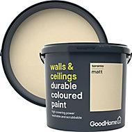 GoodHome Durable Toronto Matt Emulsion paint, 5L