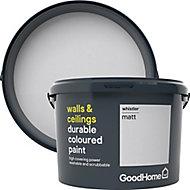 GoodHome Durable Whistler Matt Emulsion paint, 2.5L