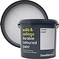 GoodHome Durable Whistler Matt Emulsion paint, 5L