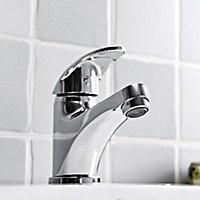 GoodHome Eidar 1 lever Chrome-plated Contemporary Basin Mono mixer Tap