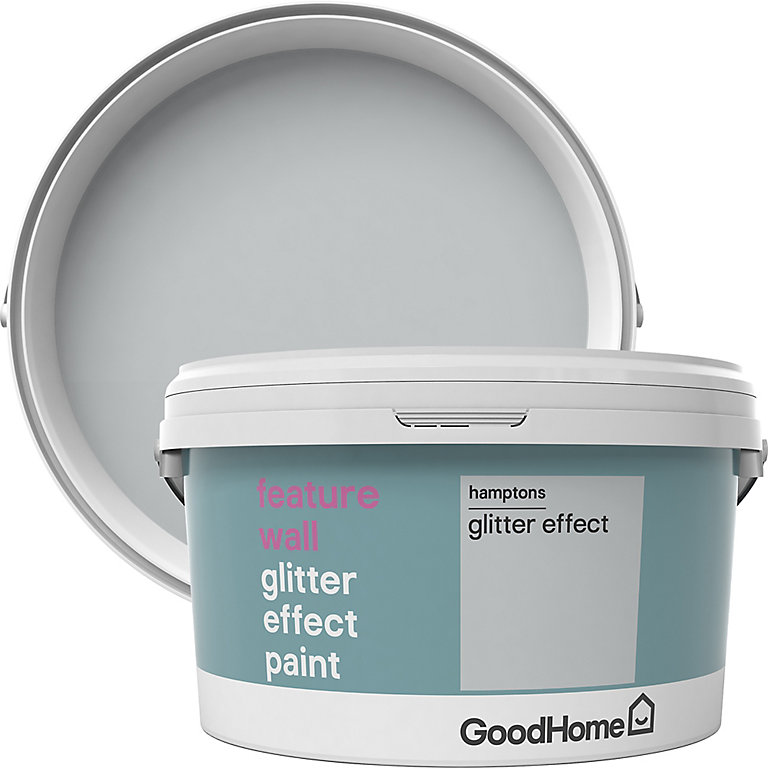 Goodhome Feature Wall Hamptons Glitter Effect Emulsion Paint 2l Diy At B Q