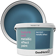 GoodHome Feature wall Laguna beach Metallic effect Emulsion paint 2L