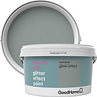 GoodHome Feature wall Manhattan Glitter effect Emulsion paint, 2L
