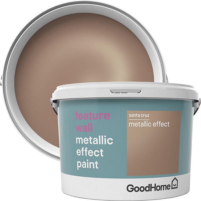 Goodhome Feature Wall Santa Cruz Metallic Effect Emulsion Paint 2l Diy At B Q