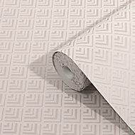 GoodHome Ficus Beige Art deco Gold effect Textured Wallpaper