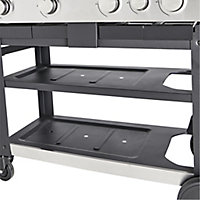 GoodHome Freestone 4.1 Black 4 burner Gas Barbecue