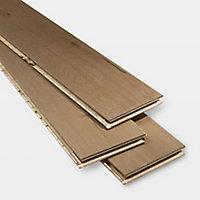 GoodHome Fryatt Oak Real wood top layer flooring, 1.37m² Pack