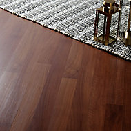 GoodHome Geraldton Natural Walnut effect Laminate Flooring, 2.467m² Pack