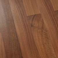 GoodHome Geraldton Natural Walnut effect Laminate flooring, 2.47m² Pack