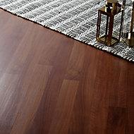 GoodHome Geraldton Walnut effect Laminate Flooring, 2.467m² Pack