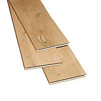 GoodHome Gladstone Natural Oak effect Laminate flooring, 2m² Pack