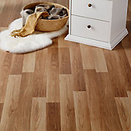GoodHome Goldcoast Natural Oak effect Laminate flooring, 2.47m² Pack
