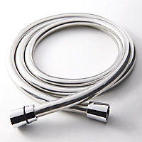 GoodHome Grey Plastic Shower hose, (L)1.5m
