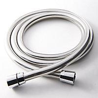 GoodHome Grey Plastic Shower hose, (L)1.75m