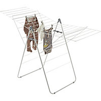 GoodHome Grey & white Airer, 20m