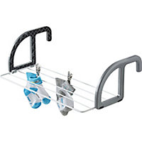GoodHome Grey & white Laundry Airer, 2.5m
