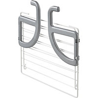 GoodHome Grey & white Radiator Airer, 7m