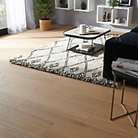 GoodHome Halland White Oak Real wood top layer flooring, 1.37m² Pack