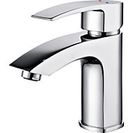 GoodHome Hopa 1 lever Chrome-plated Contemporary Basin Mono mixer Tap