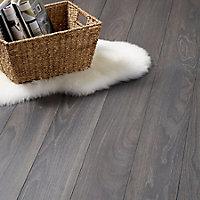 GoodHome Horsham Grey Oak effect Laminate flooring, 2.06m² Pack