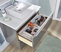 GoodHome Imandra Gloss Anthracite Basin Cabinet (W)800mm (H)600mm