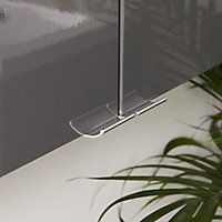 GoodHome Imandra Gloss Anthracite Wall-mounted Bathroom Cabinet (W)400mm (H)900mm