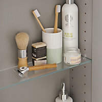 GoodHome Imandra Gloss Anthracite Wall-mounted Bathroom Cabinet (W)600mm (H)900mm