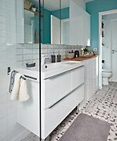 GoodHome Imandra Gloss White Vanity & basin Cabinet (W)1000mm (H)600mm