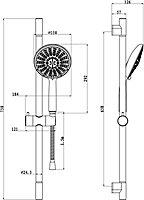 GoodHome Imelda 5-spray pattern Shower kit