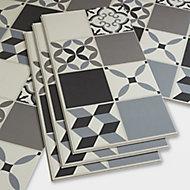 GoodHome Jazy Grey Mosaic effect Luxury vinyl click flooring, 2.23m² Pack