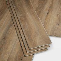 GoodHome Jazy Honey Wood effect Luxury vinyl click flooring, 2.24m² Pack