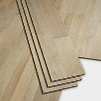 GoodHome Jazy Light natural Wood effect Luxury vinyl click flooring, 2.2m² Pack