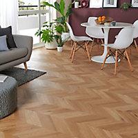 GoodHome Jazy Natural Parquet effect Luxury vinyl click flooring, 2.24m² Pack
