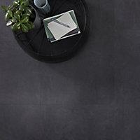 GoodHome Jazy Slate Tile effect Luxury vinyl click flooring, 2.23m² Pack
